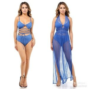 Other - Royal Blue Swim Suit & Cover Up